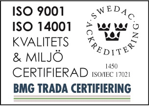 BMG trada certifiering for tapper sealing technology